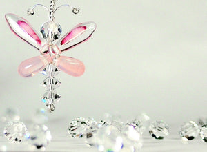 Pink Butterfly / Fairy / Angel Earrings