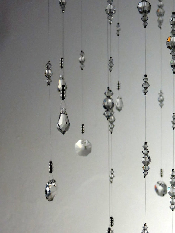 Medium: Clear Swarovski Crystal Chandelier Mobile
