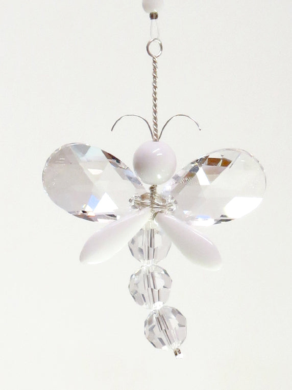 White Dragonfly Suncatcher Decoration