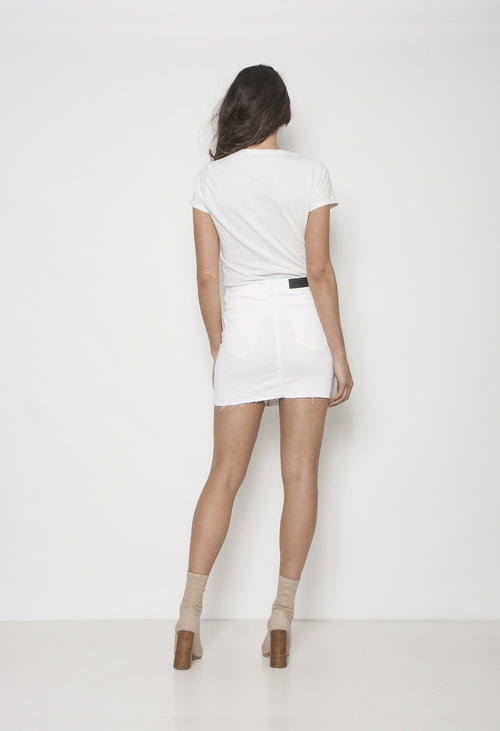 TEASE TIE UP SKIRT - WHITE - Neon Blonde