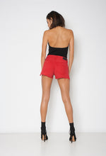 LOVER EYELET SHORT - CHERRY BOMB - Neon Blonde