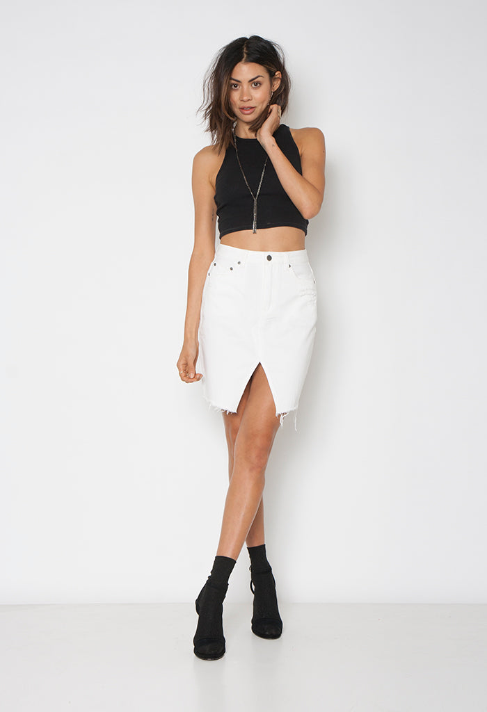 STRUTT SKIRT - WHITE LIES - Neon Blonde