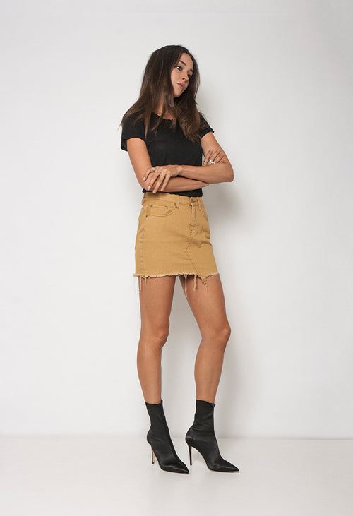 TEASE SKIRT - WILD HONEY - Neon Blonde