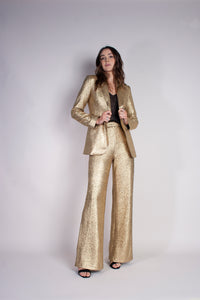 SHIMMER BLAZER - GOLD DUST - Neon Blonde