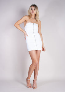 VIXEN DRESS - WHITE LIGHTENING - Neon Blonde