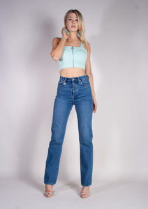 VIXEN TOP - MINT JULEP - Neon Blonde