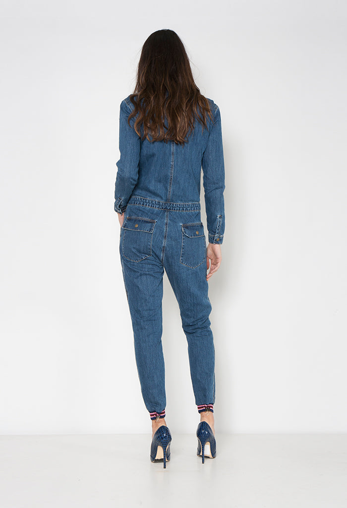 WAYLAND BOILER SUIT - MIDNIGHT MOON - Neon Blonde