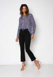 BUTTON UP SHIRT - ON THE PROWL LILAC - Neon Blonde