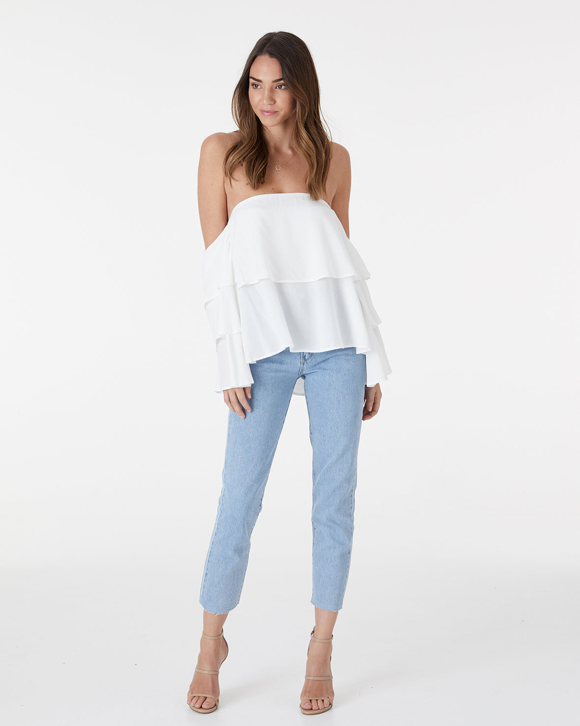 WAVES TOP - WHITE