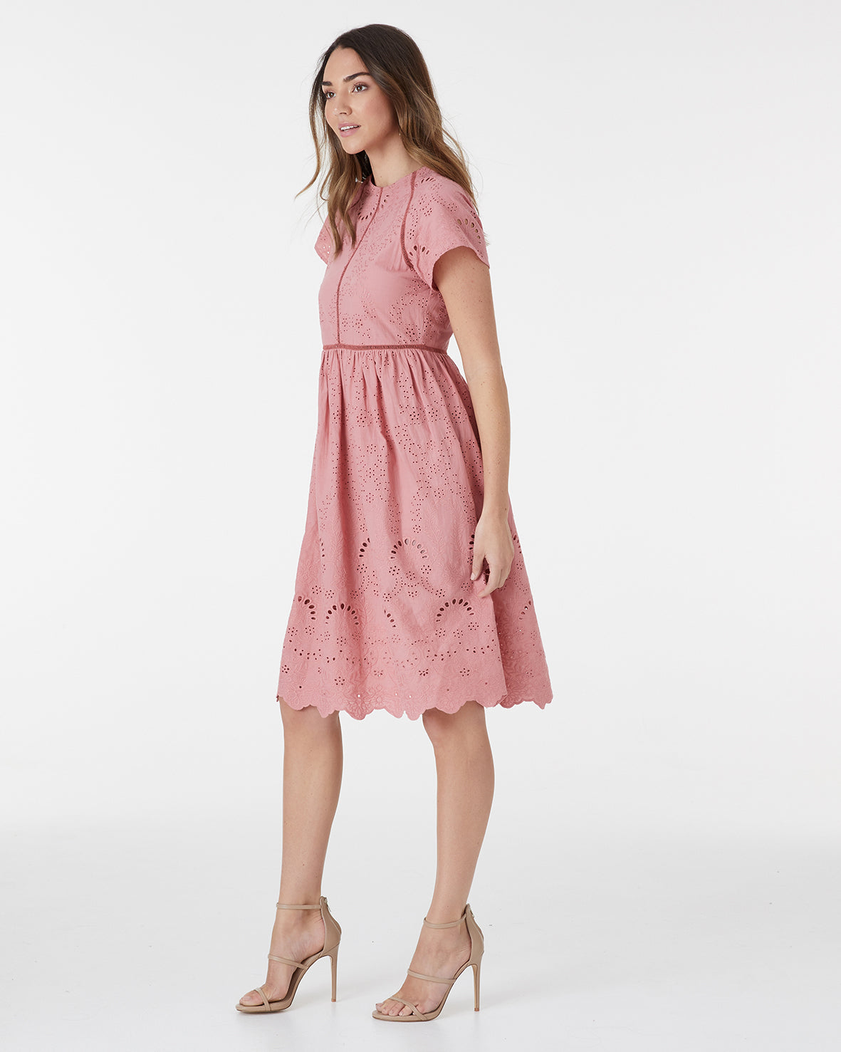 HAVANA LACE DRESS - DUSTY ROSE