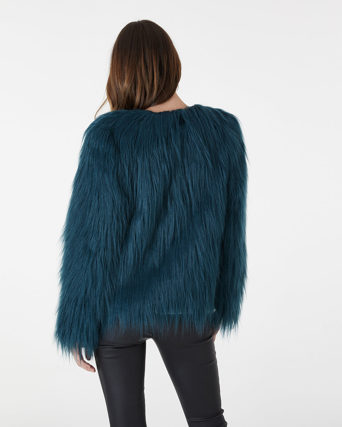 MARMONT FAUX FUR JACKET - EMERALD