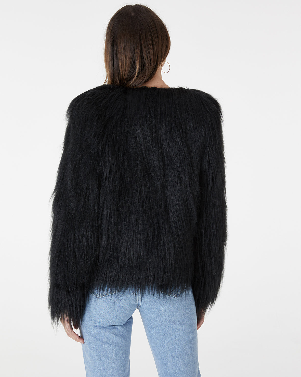 MARMONT FAUX FUR JACKET - BLACK