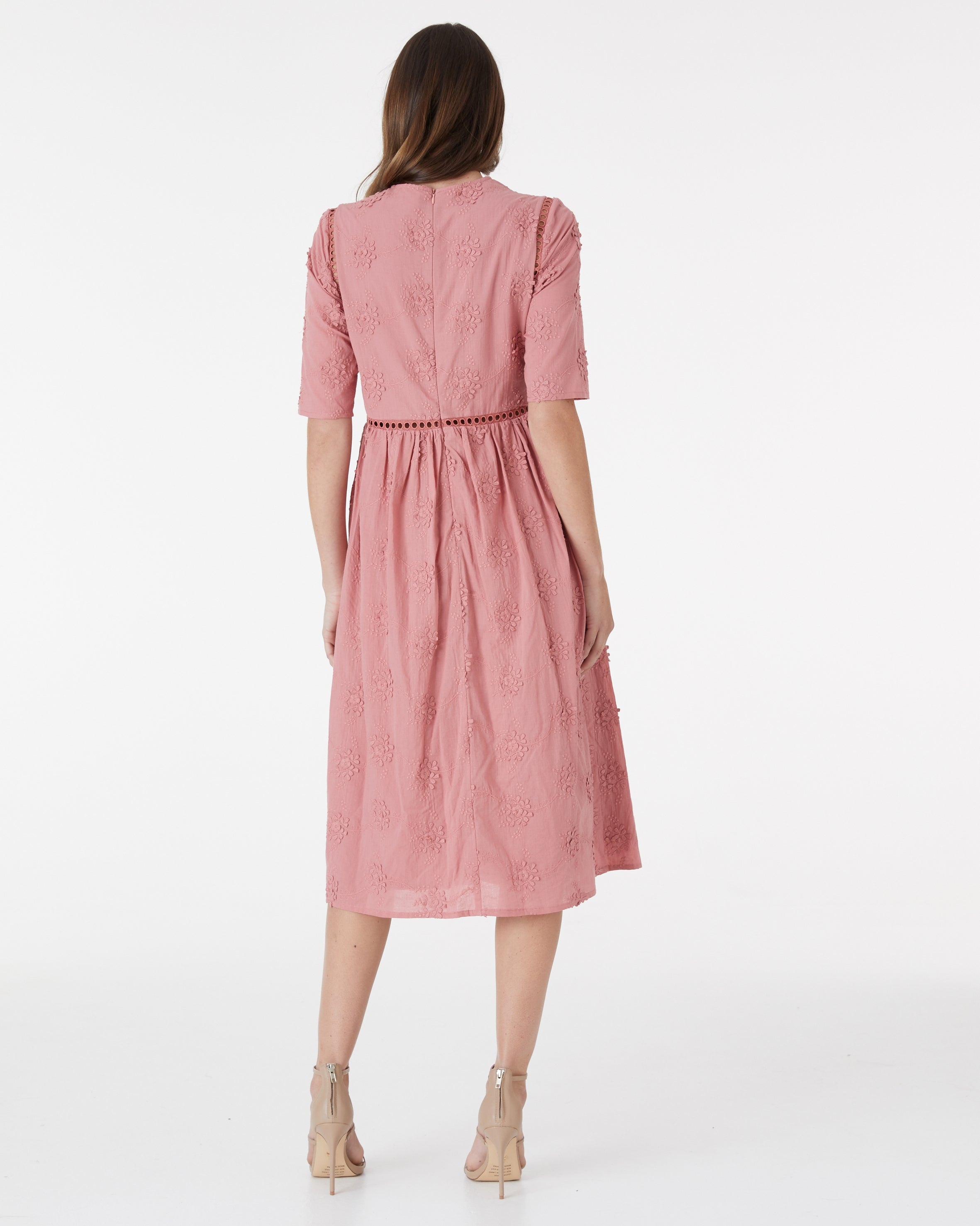 ON LOCATION DRESS - DUSTY ROSE