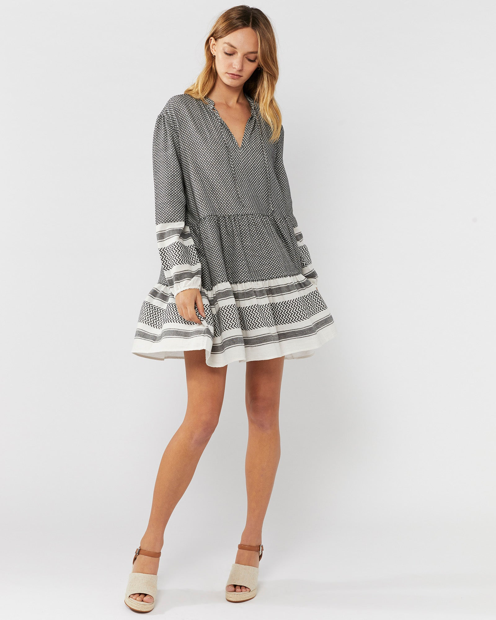 MEMORIES FLOUNCED TUNIC DRESS
