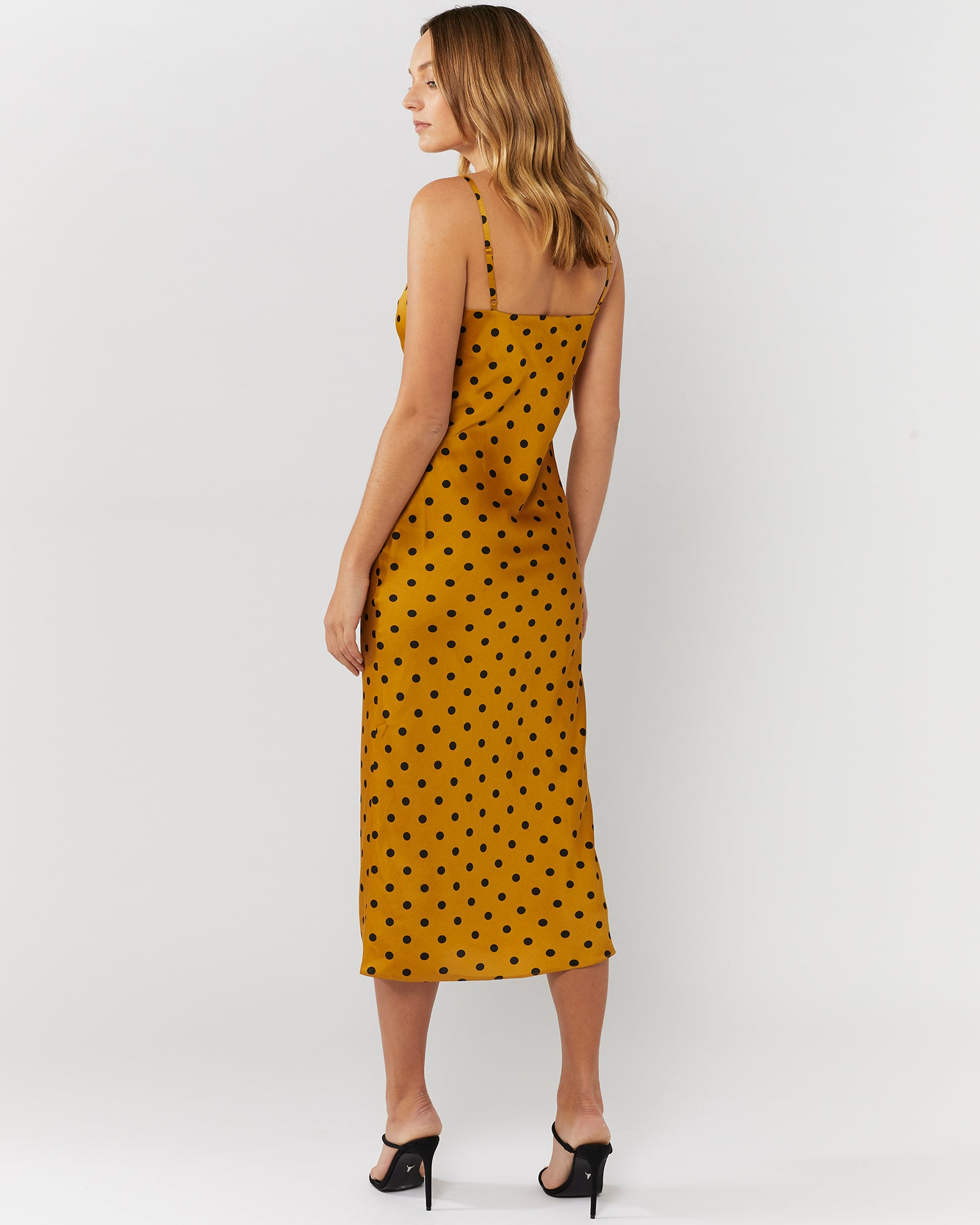 SMALL TALK SLIP DRESS - GOLD SPOT
