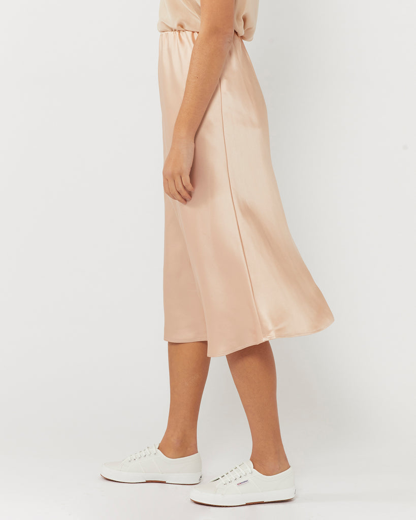 FIND YOU AGAIN SLIP SKIRT - CHAMPAGNE
