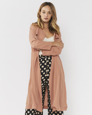 BY YOUR SIDE SHEER TRENCH - TERRACOTTA