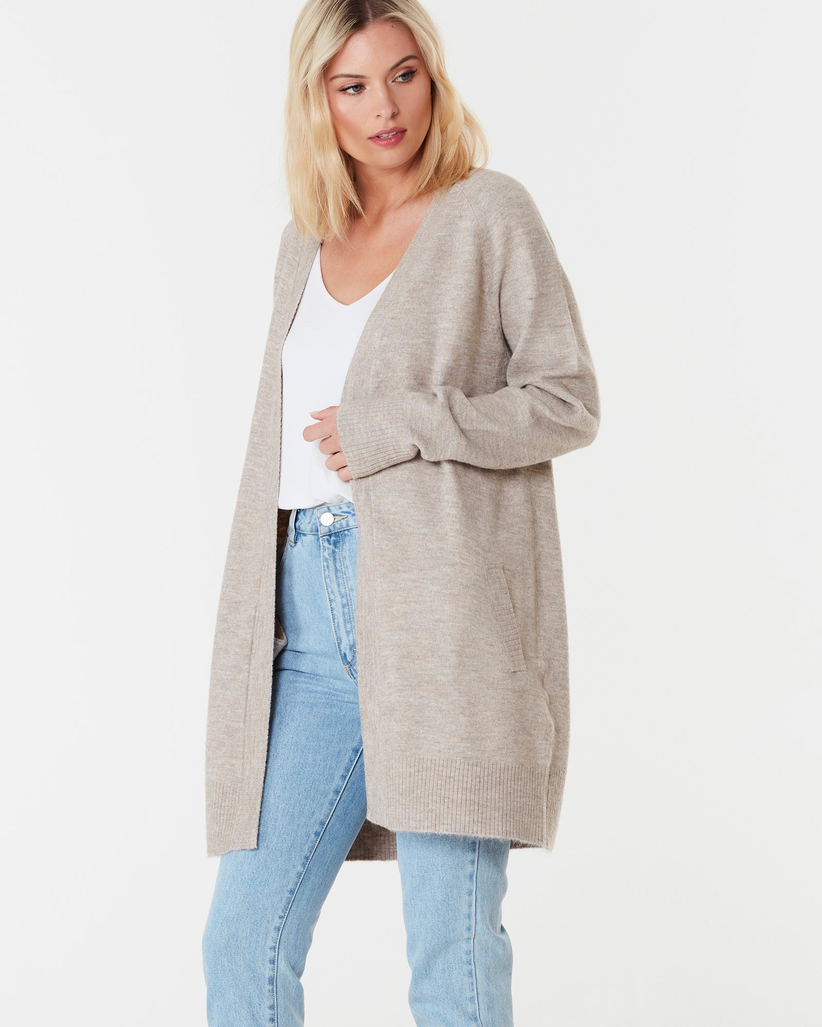 BROOKLYN SHORT CARDIGAN - CHAI