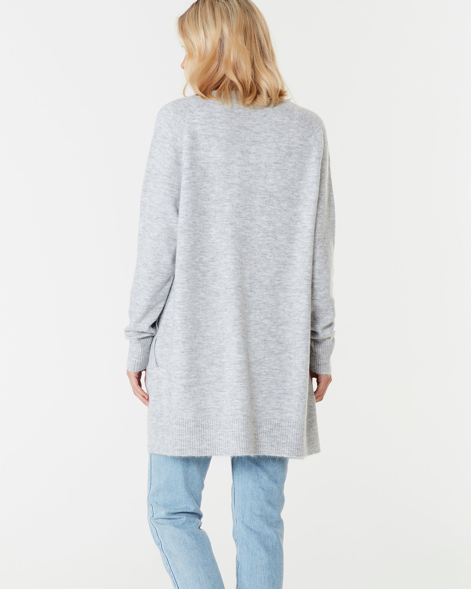 BROOKLYN SHORT CARDIGAN - LIGHT GREY
