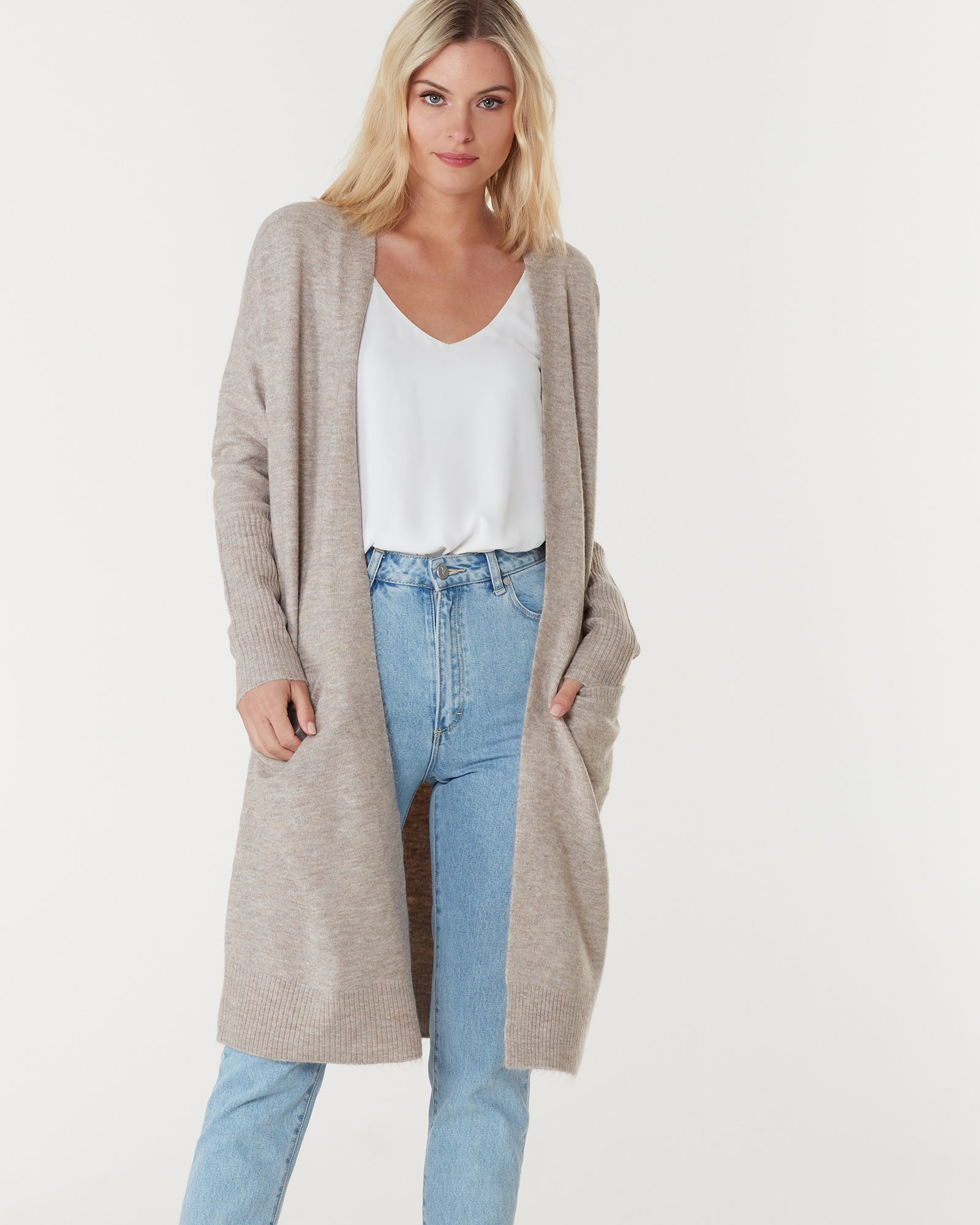 TORONTO LONG CARDIGAN - CHAI