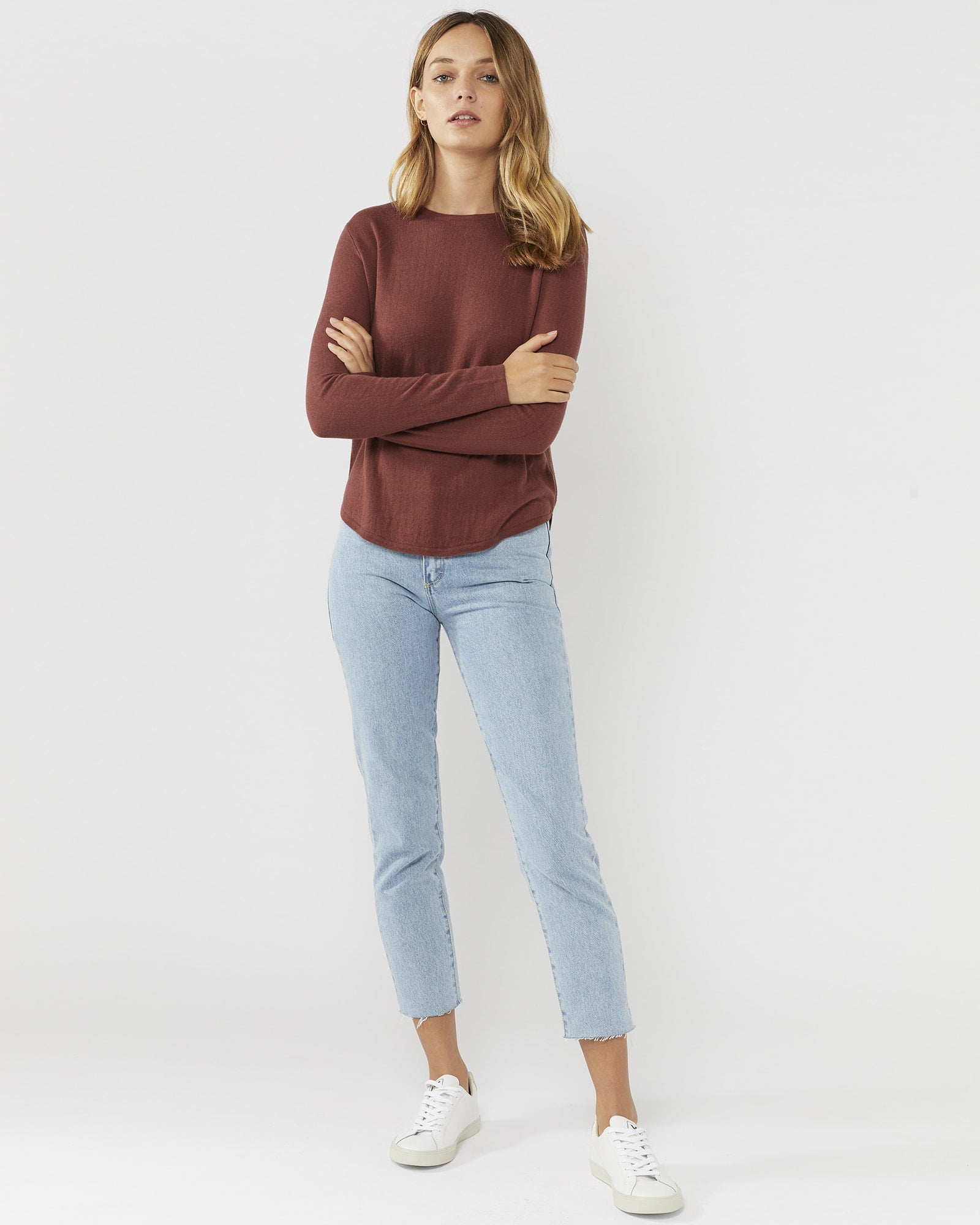 THIS WAY JUMPER - MARSALA