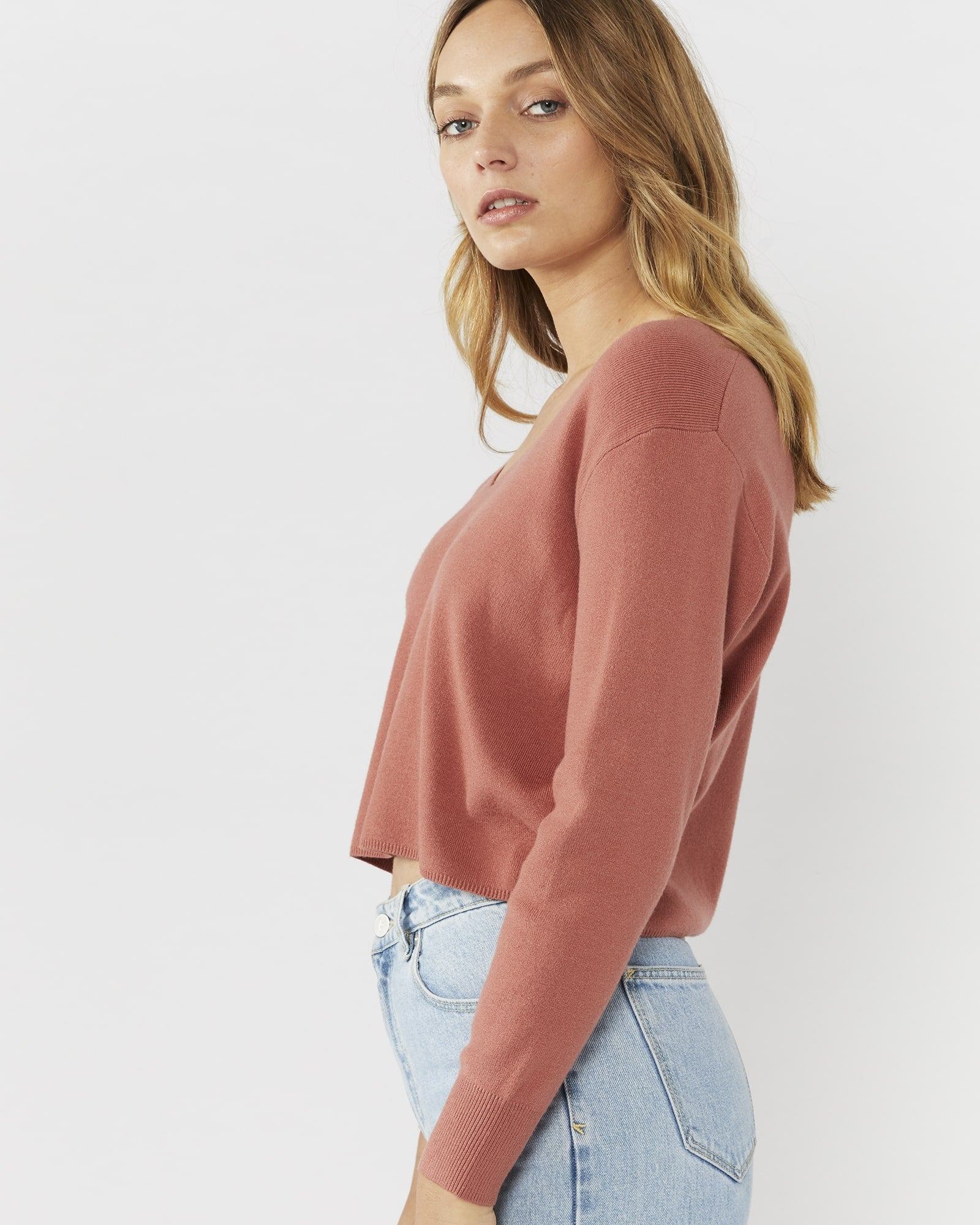 ALL I WANT TOP - DEEP BLUSH
