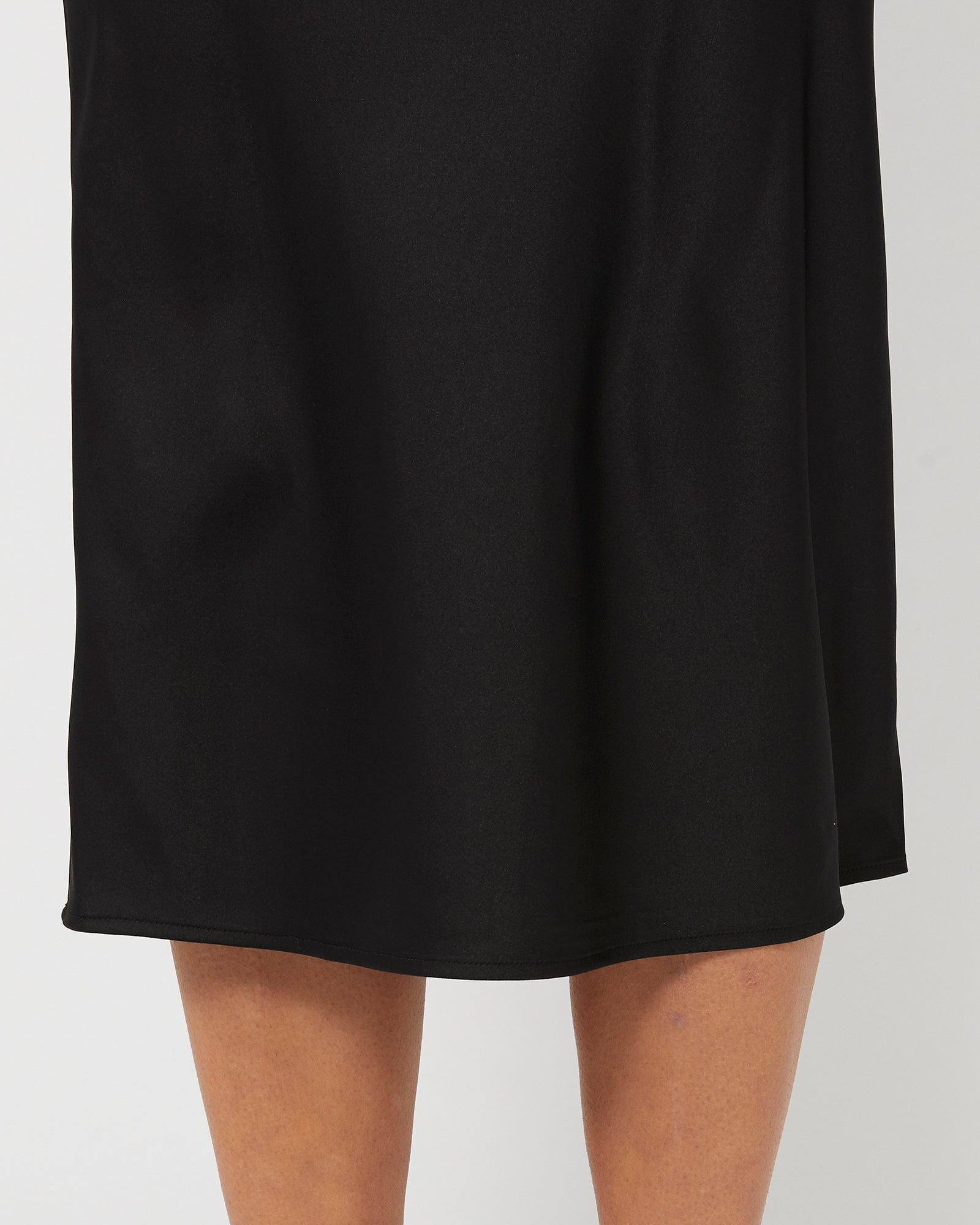 ALL THESE YEARS SATIN SKIRT - BLACK