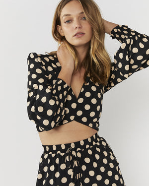 LIFELINE TOP - BLACK/NUDE SPOT