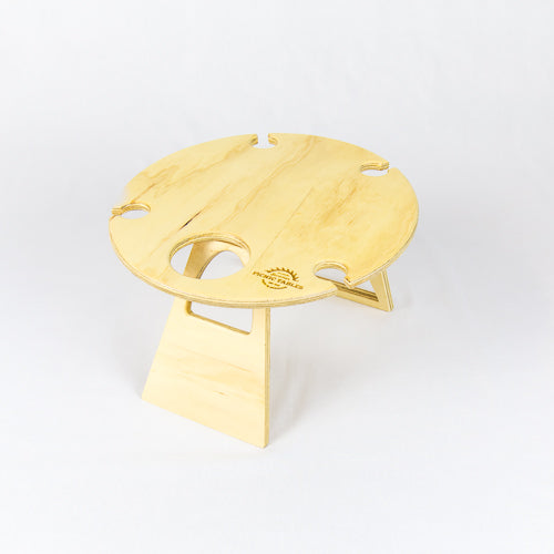 PORTABLE WINE TABLE ROUND NAT
