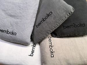BEMBOKA PURE LINEN DUVET COVER KING - WHITE