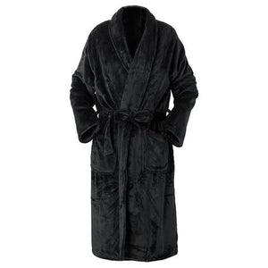 BROGO HOODED BATHROBE S/M - CHARCOAL
