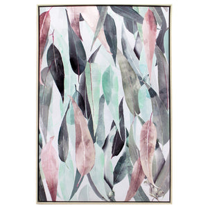 GUM LEAF COLLAGE PAINTING 63X93CM
