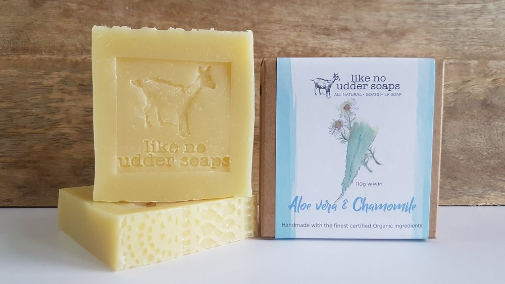 LIKE NO UDDER SOAP GOATS MILK - ALOE VERA & CHAMOMILE