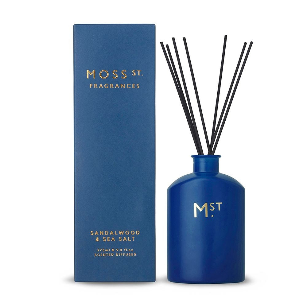 MOSS ST DIFFUSER - SANDALWOOD & SEA SALT