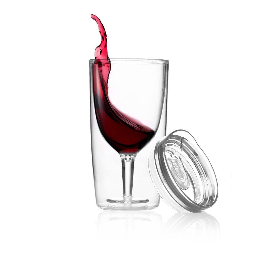 TRAVINO WINE SIPPY CUP - CRYSTAL CLEAR
