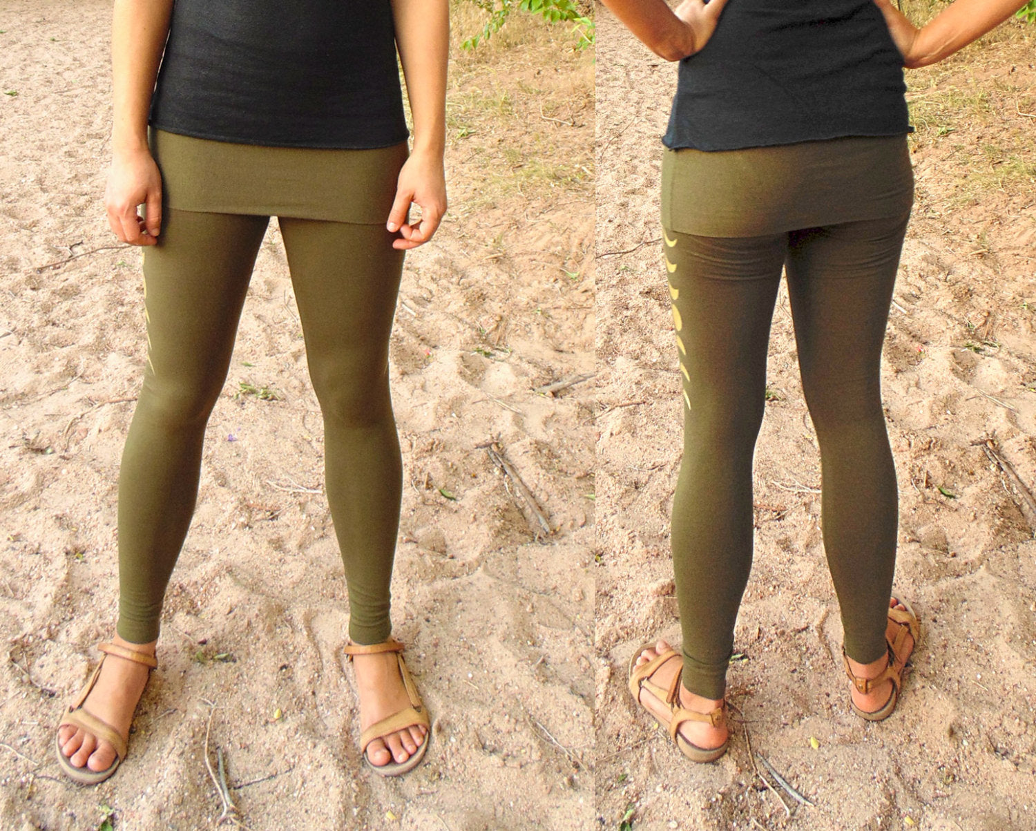f2dbe09cc6 ... Libra Leggings: Skirted Yoga Pants with Moon Phase Screenprints. Fitted  lunar cycle leggings ...