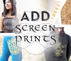 ADD a Screen Print: Embellish Any AraStar Apparel Item. Sacred Geometry Screen Prints | Activewear | Made in the USA | AraStarApparel