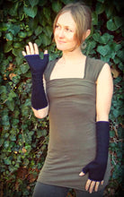 Alpha Arm Warmers: Wool Bamboo Hand Warmers. Lined Fingerless Gloves with Thumbholes | Arm Warmers | Made in the USA | AraStarApparel