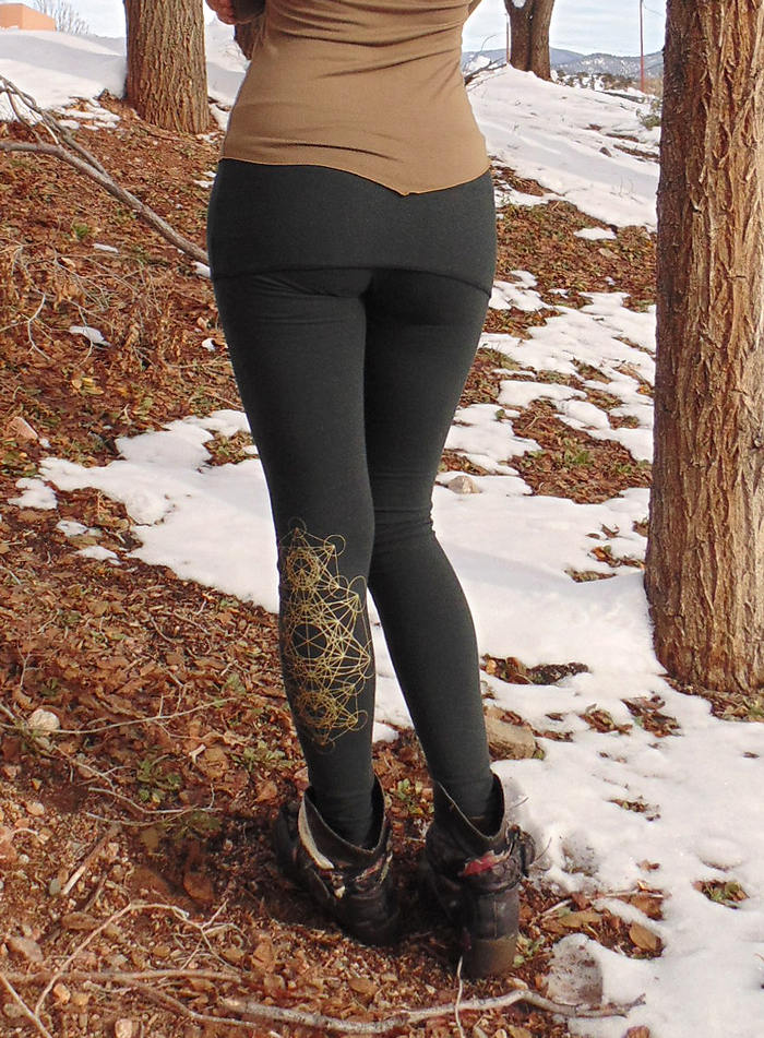 aae27d6dfe6196 ... Lyra Leggings: Yoga Pants with Mini Skirt. Skirted Leggings | Leggings  | Made in ...