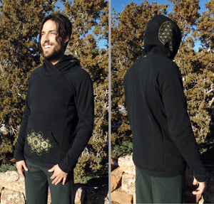 Heze Hoodie: Men's hooded pull-over sweatshirt. Hemp-Organic Cotton