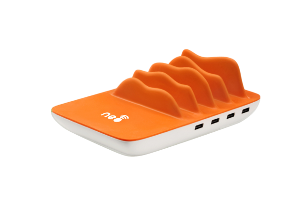 Neo Wireless Charging Station - Orange