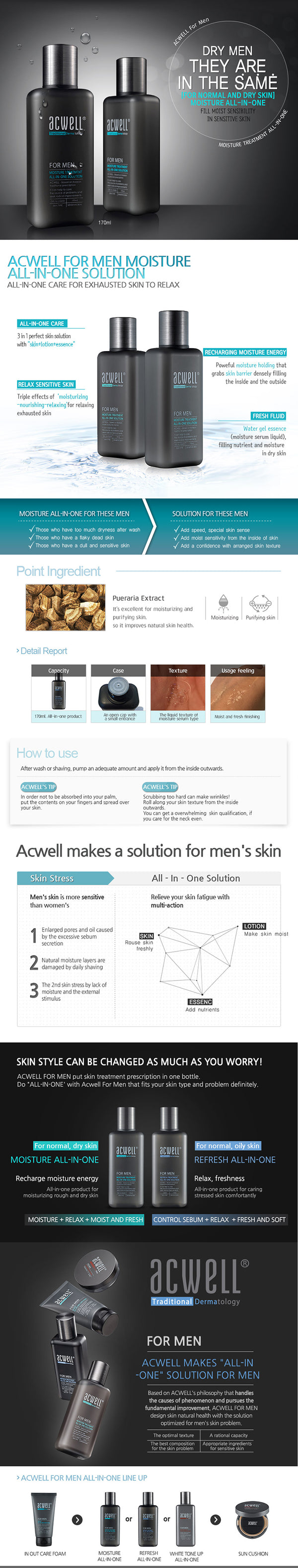 ACWELL For Men Moisture Treatment All-In-One Solution