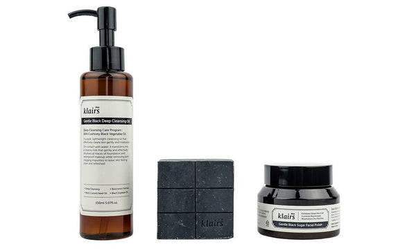 Klairs Gentle Black Cleansing Set