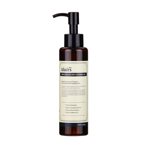 [READY STOCK] Klairs Gentle Black Deep Cleansing Oil