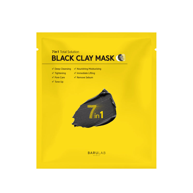 BARULAB 7 In 1 Total Solution Black Clay Mask