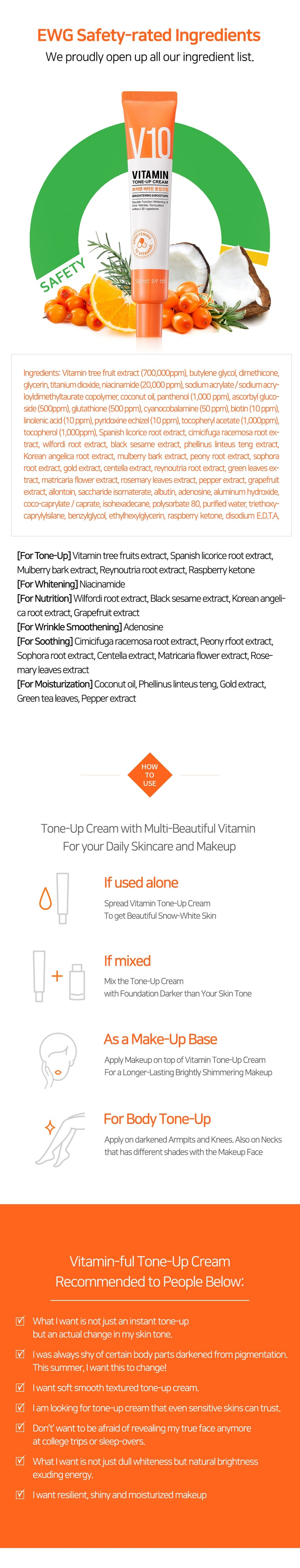 Some By Mi Vitamin V10 Tone-Up Cream