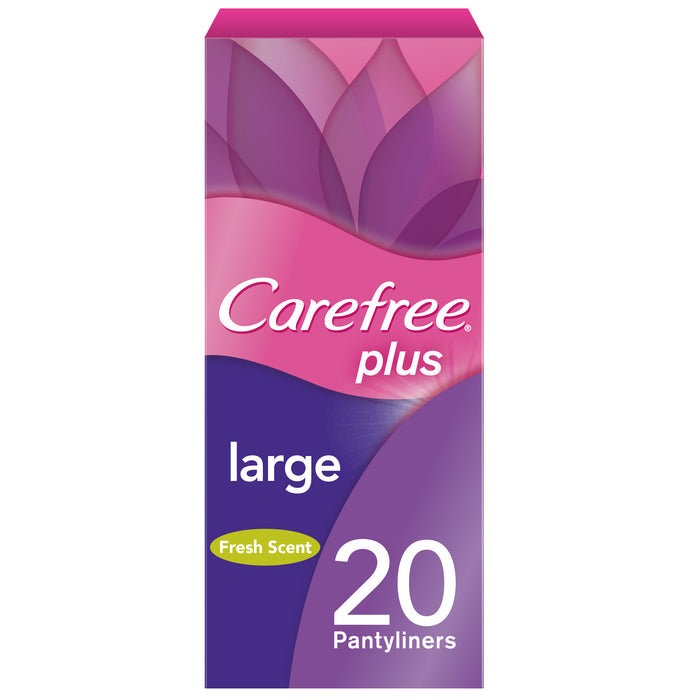 Carefree Plus Large Fresh Pantyliners 20s