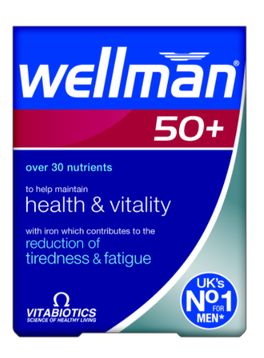 Wellman 50+ Tablets Multivitamins for Men