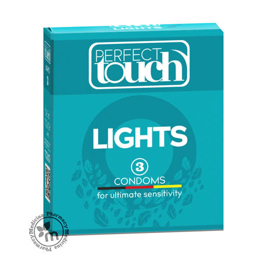 Perfect Touch Condoms Lights 3 Pcs