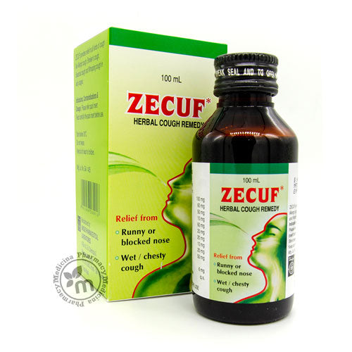 Zecuf Cough Syrup Wet and Dry Cough Treatment